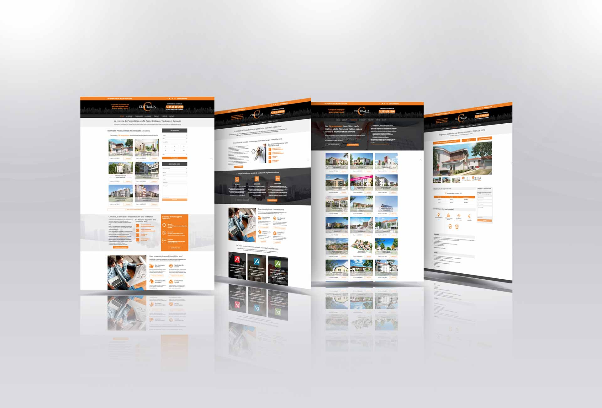 communication institutionnelle webdesign creation site internet groupe immobilier neuf