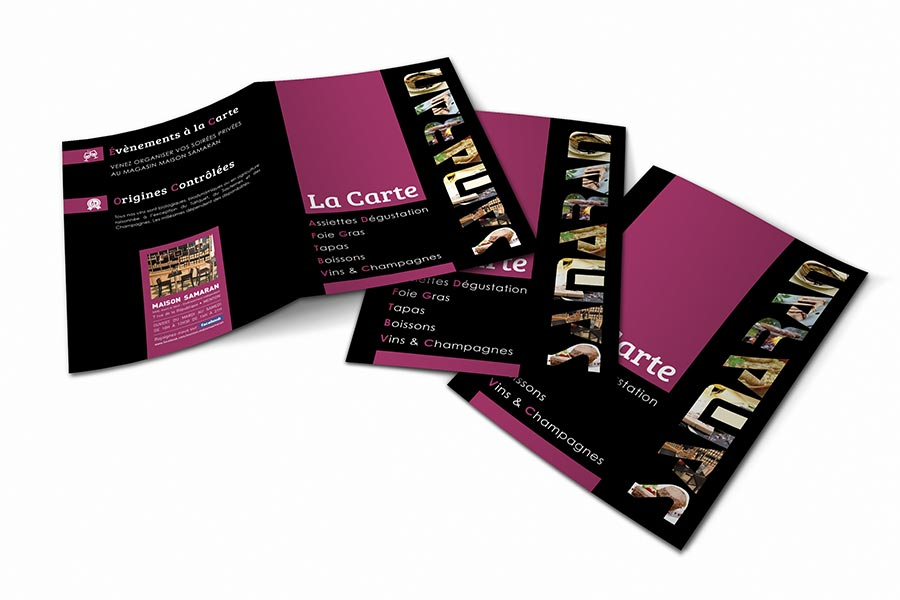 designer graphique identite visuelle creation carte menu- maison samaran menton