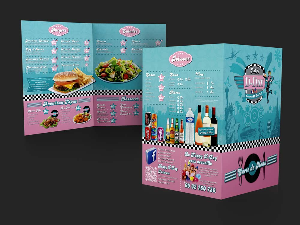 designer graphique identite visuelle creation carte menu restaurant toulouse