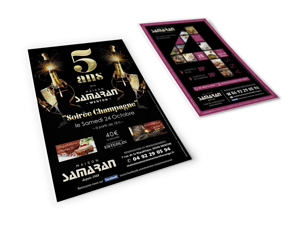 graphiste communication evenementielle creation flyers anniversaires maison samaran 2