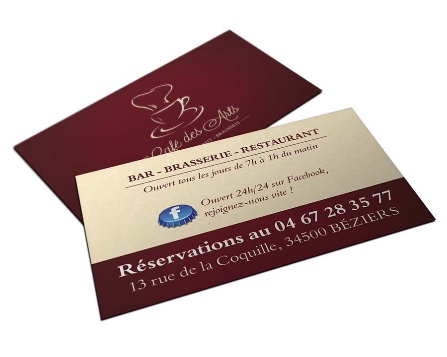 Graphiste Identite Visuelle Creation Carte Visite Restaurant Beziers