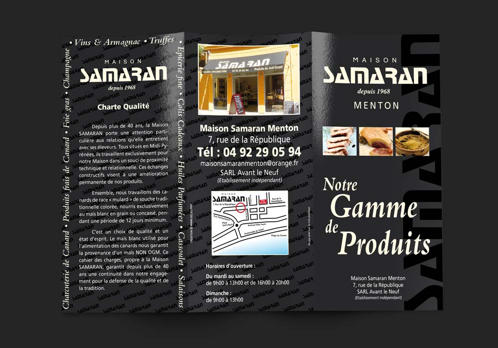 graphiste identite visuelle creation graphique depliant maison samaran menton
