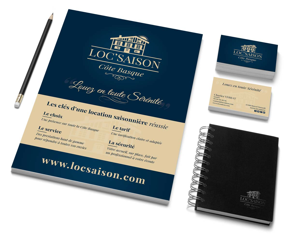 Identite Visuelle Locsaison Creation Flyers Cartes De Visite