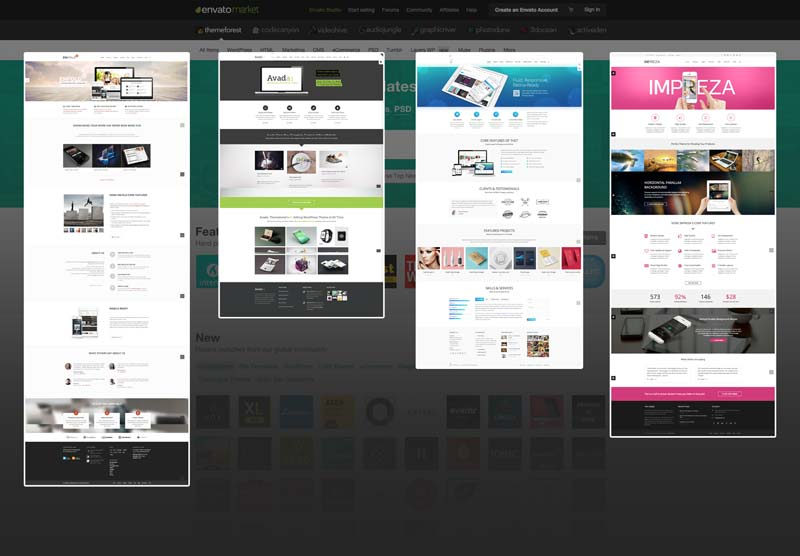 themeforest clones de sites wordpress