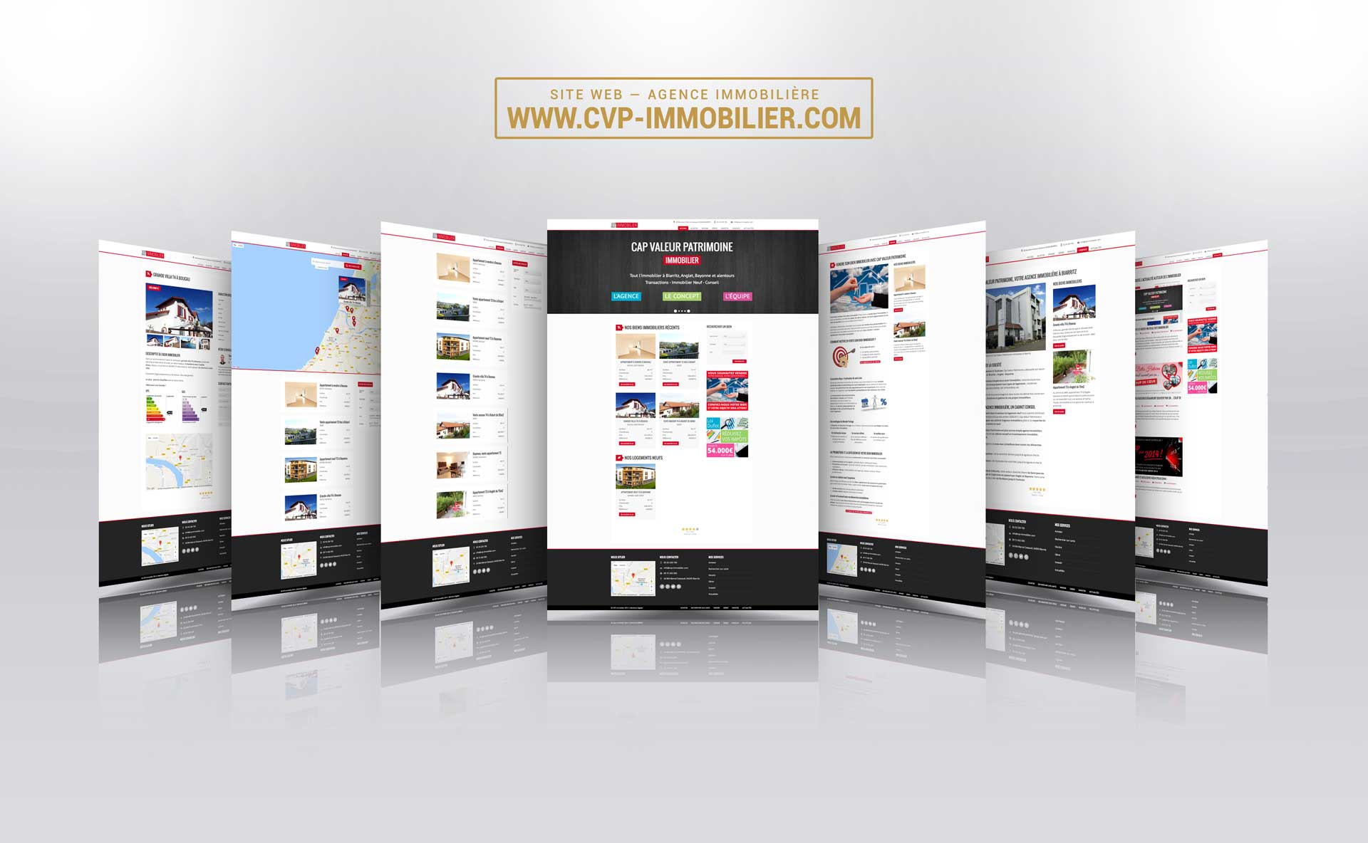 webdesign creation site internet agence immobiliere 2013